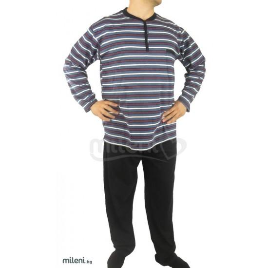 Мъжка Пижама Каре Райе - Големи Размери - 3Xl, 4Xl, 5XL
