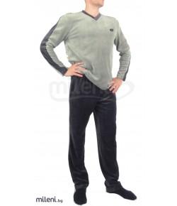 Плюшена мъжка пижама - IVATEX