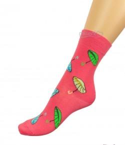 Дамски памучни къси чорапи Derby - 5 броя