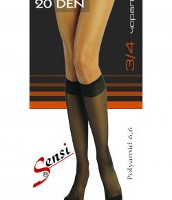3/4 Обикновени Чорапи Sensi 20 Den - 10 броя
