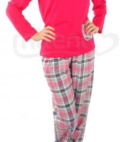 Дамска Пижама От Тънка Памучна Материя - Петков 11114 - Големи Номера