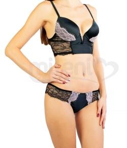 Сутиен Бюстие Lormar с красива дантела и бикина бразилиана